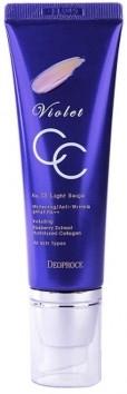СС-крем с экстрактом черники - Deoproce Violet CC Cream