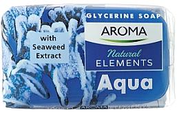 """Духи, Парфюмерия, косметика Туалетное мыло """"Аква"""" - Aroma Natural Elements Toilet Soap Aqua"""