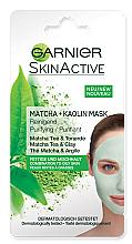 Духи, Парфюмерия, косметика Очищающая каолиновая маска для лица - Garnier SkinActive Matcha + Kaolin Mask