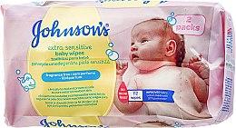 Духи, Парфюмерия, косметика Влажные салфетки, 112шт - Johnson's® Baby Extra Sensitive