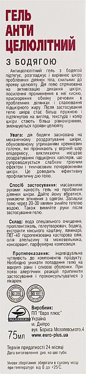 """Гель """"Антицеллюлитный с бадягой"""" - Евро плюс — фото N3"""