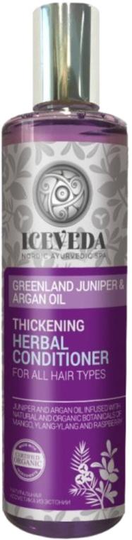 Кондиционер для волос - Iceveda Greenland Juniper&Argan Oil Thickening Herbal Conditioner — фото N1