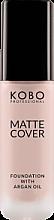 Духи, Парфюмерия, косметика Матирующий тональный крем - Kobo Professional Matte Cover Foundation With Argan Oil