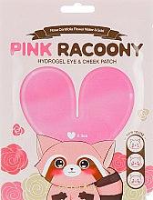 Парфумерія, косметика Гідрогелеві патчі для очей та скул  - Secret Key Pink Racoony Hydro-Gel Eye & Cheek Patch