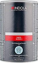 Духи, Парфюмерия, косметика Беспылевой осветляющий порошок голубой - Indola Profession Rapid Blond+ Blue Dust-Free Powder