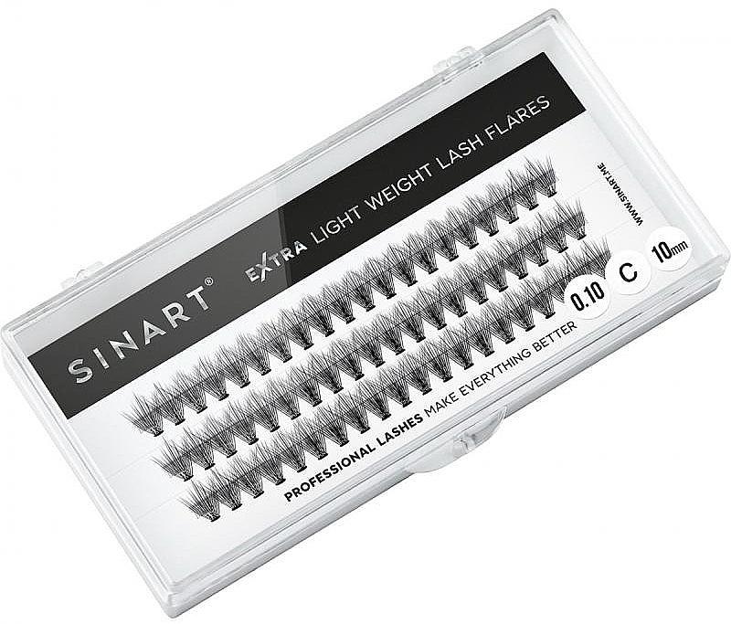 Ресницы пучковые, T10 мм - Sinart Extra Light Weight Lash