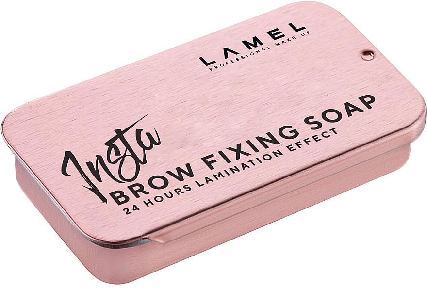 Фиксирующее мыло для бровей - Lamel Professional Insta Brow Fixing Soap