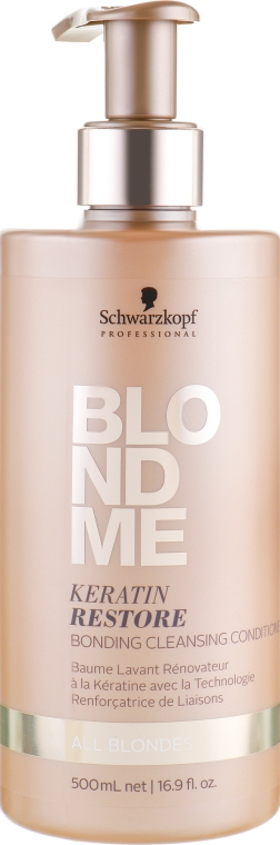 Кондиционер-бондинг для ко-вошинга - Schwarzkopf Professional BlondMe Keratin Restore Bonding Cleansing Conditioner