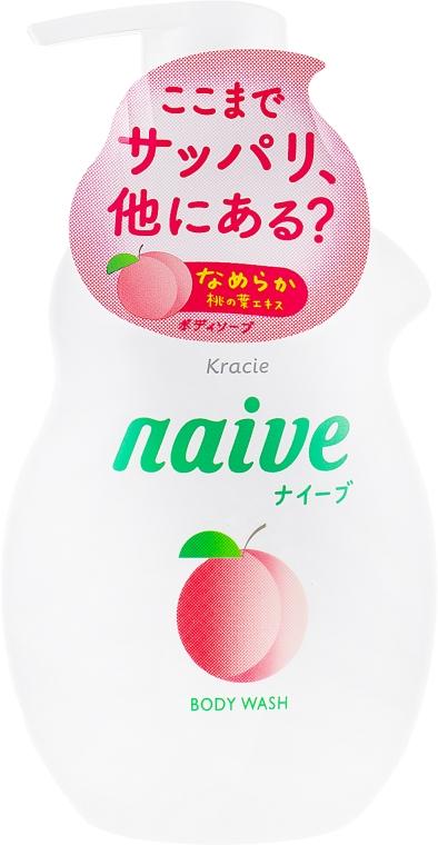 Жидкое мыло для тела с экстрактом персика - Kracie Naive Body Wash
