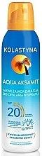 Духи, Парфюмерия, косметика Увлажняющий спрей для загара - Kolastyna Aqua Aksamit SPF 20
