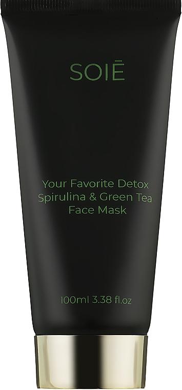 Матирующая детокс-маска для лица с спирулиной и зеленым чаем - Soie Your Favorite Detox Spirulina & Green Tea Face Mask