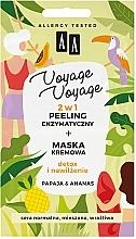 """Духи, Парфюмерия, косметика Ферментный пилинг 2в1 + крем-маска """"Папайя и ананас"""" - AA Voyage Voyage 2 In 1"""