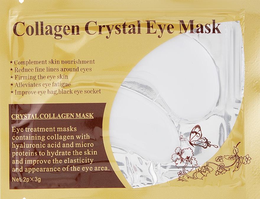 Антивозрастные гидрогелевые патчи под глаза против морщин с коллагеном и вытяжкой плаценты - Veronni Collagen Crystal Eye Mask