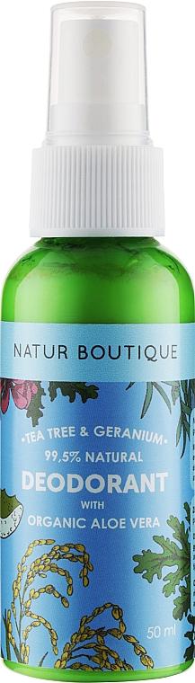 Дезодорант с органическим чайным деревом, алоэ и геранью - Natur Boutique Tea Tree Geranium Aloe Vera Deodorant