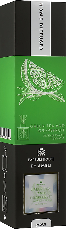 "Диффузор ""Зеленыйчайигрейпфрут"" - Parfum House byAmeli Homme Diffuser Green Tea And Grapefruit"