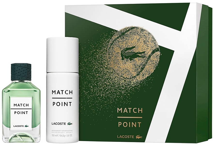 Lacoste Match Point - Набор (edt/100ml + deo/spray/150ml)