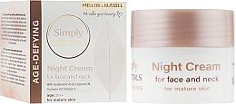 Духи, Парфюмерия, косметика Ночной крем для лица и шеи с гиалуроновой кислотой и кокосовым маслом - Mellor & Russell Simply Essentials Age Defying Night Cream