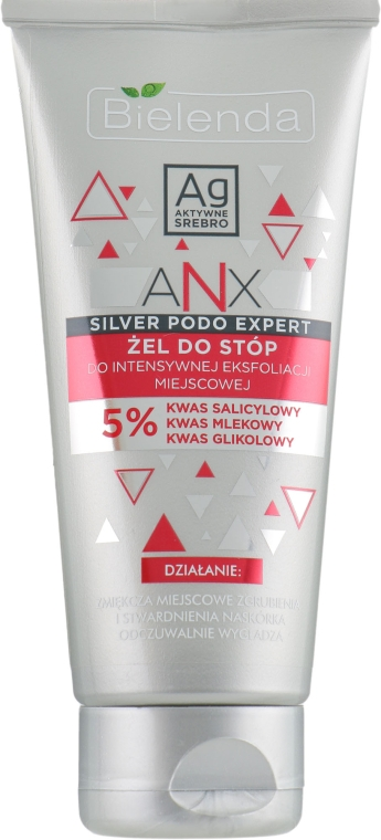 Гель для отшелушивания стоп - Bielenda ANX Podo Detox Gel