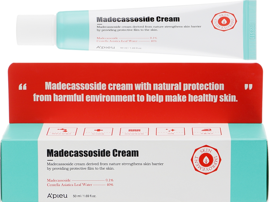 Восстанавливающий крем с мадекассосидом для лица - A'pieu Madecassoside Cream