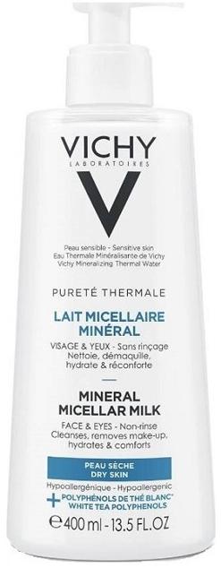 Мицеллярное молочко для сухой кожи лица и глаз - Vichy Purete Thermale Mineral Micellar Milk For Dry Skin