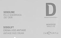 Духи, Парфюмерия, косметика Антивозрастной крем для жирной кожи - Dermophisiologique Seboline (пробник)