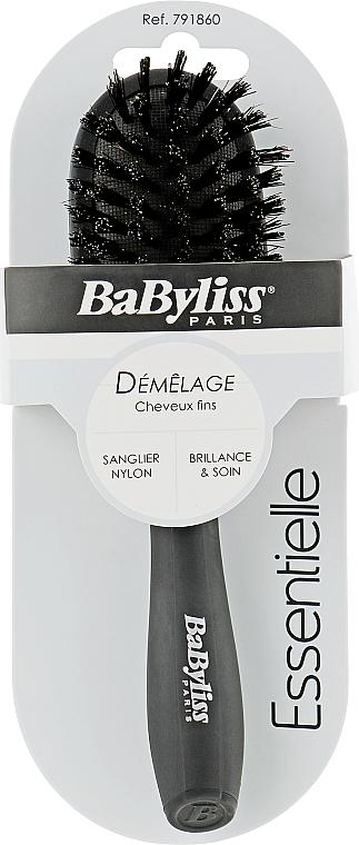 Щетка с натуральной щетиной, чёрная - Babyliss Demelage & Douceur