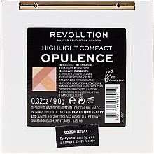 Хайлайтер для обличчя - Makeup Revolution Opulence Compacts Highlighter — фото N5