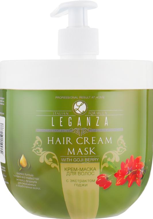 Крем-маска для волос с экстрактом годжи - Leganza Cream Hair Mask With Extract Of Goji Berry (с дозатором)