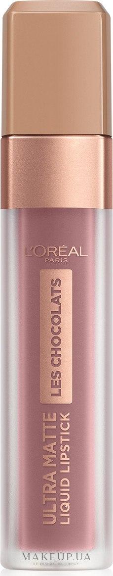 Ультра-матовая жидкая помада для губ - L'Oreal Paris Les Chocolats Ultra Matte Liquid Lipstick — фото 842 - Candyman