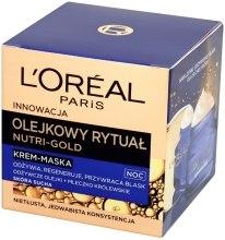 Ночной крем-маска для лица - L'Oreal Paris Nutri Gold Night Cream-Mask  — фото N2
