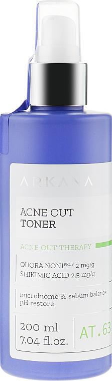Очищающий тоник для жирной кожи и склонной к прыщам - ARKANA Acne Out Toner