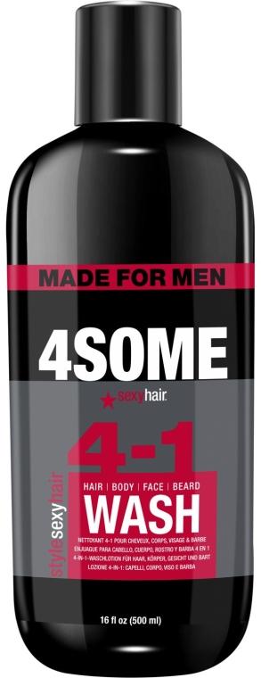 Мужской шампунь для волос, тела, лица и бороды - SexyHair StyleSexyHair 4Some 4-In-1 Wash