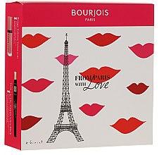 Духи, Парфюмерия, косметика Набор - Bourjois From Paris with Love (mascara/8ml + lipstick/7.7ml)