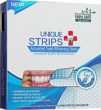 Духи, Парфюмерия, косметика Полоски для домашнего отбеливания зубов - Unique Strips White Blue Light