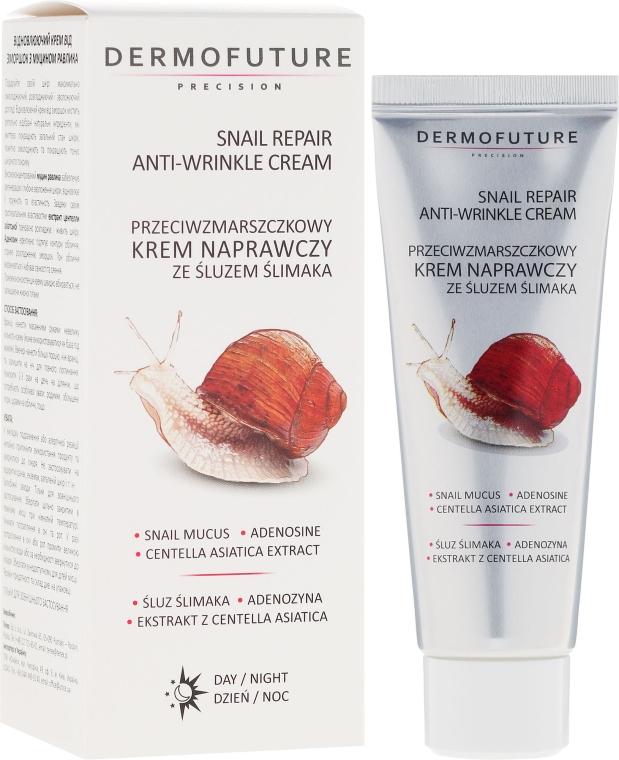 Улиточный крем от морщин - Dermofuture Snail Repair Anti-Wrinkle Face Cream