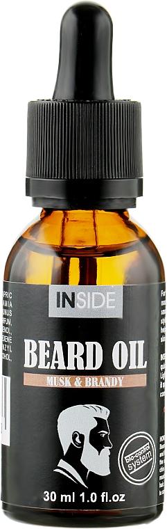 Масло для бороды с мускусом и бренди - Inside Beard Oil Musk & Brandy