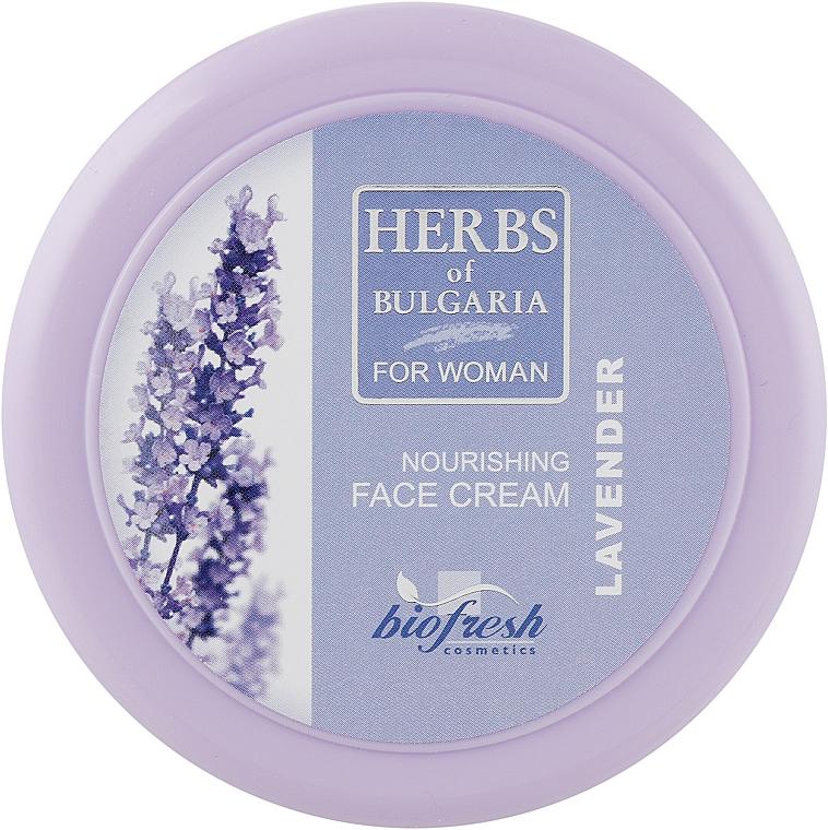 "Крем для лица ""Лаванда"" - BioFresh Herbs of Bulgaria Nourishing Face Cream Lavender"