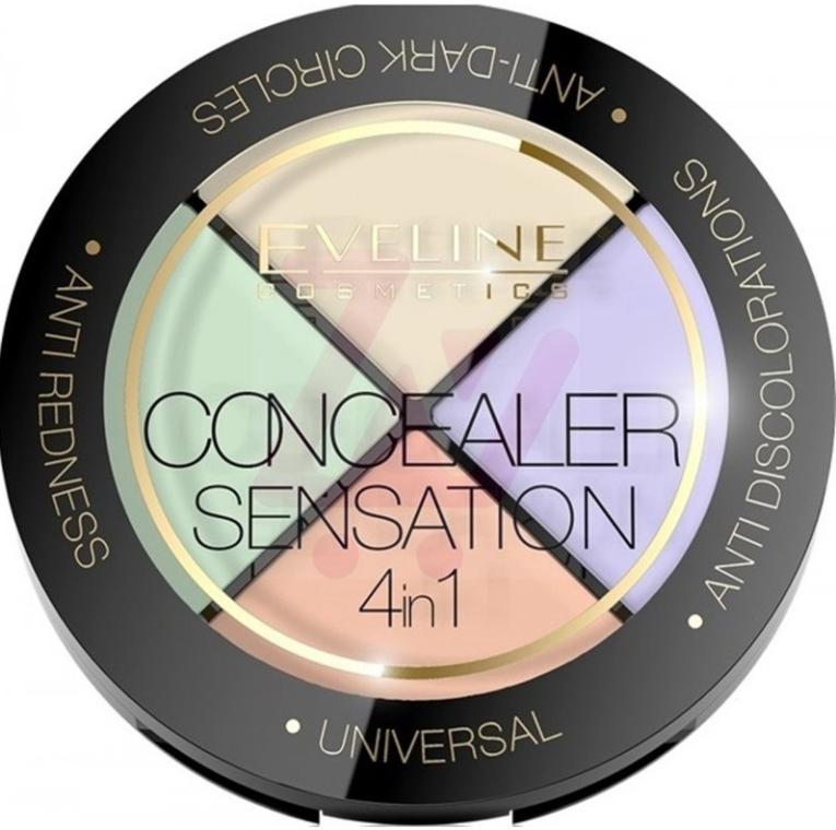 Палетка корректоров - Eveline Cosmetics Concealer Sensation 4in1