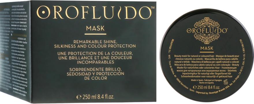 Маска для блеска и защиты цвета волос - Orofluido Hair Mask
