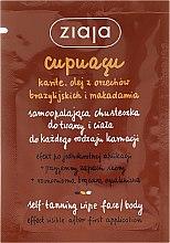Парфумерія, косметика Хустка для автозасмаги для обличчя і тіла - Ziaja Cupuacu