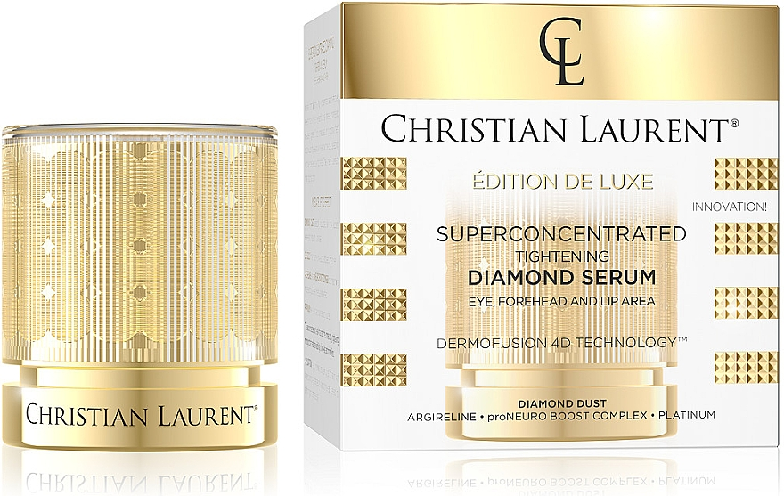 Суперконцентрированная укрепляющая сыворотка для области лба, глаз и губ - Christian Laurent Super Concentrated Brightening Diamond Serum