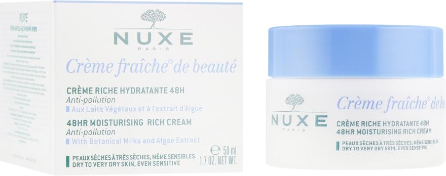Насыщенный крем для сухой и чувствительной кожи - Nuxe Creme Fraiche De Beaute Moisturizing Rich Cream