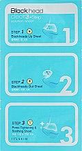 Духи, Парфюмерия, косметика Набор масок от чёрных точек - It's Skin Blackhead Clear 3-Step Solution Sheet