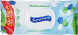 "Парфумерія, косметика Вологі серветки з клапаном ""Antibacterial"" - Superfresh"