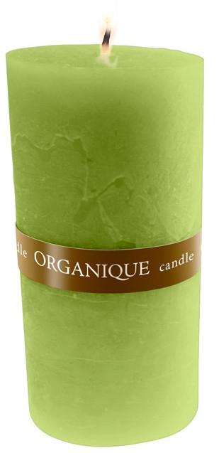 """Ароматерапевтическая свеча """"Греческий аромат"""", большая - Organique Candle Big Cylinder Greek (Зеленая)"""