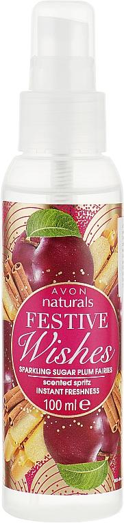 """Лосьон-спрей для тела мгновенная свежость """"Сияющие феи сахарной сливы"""" - Avon Naturals"""