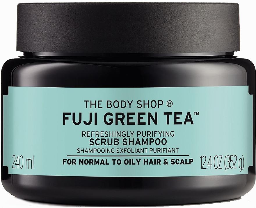 "Скраб-шампунь для волос и кожи головы ""Зелёный чай"" - The Body Shop Fuji Green Tea Cleansing Hair Scrub"