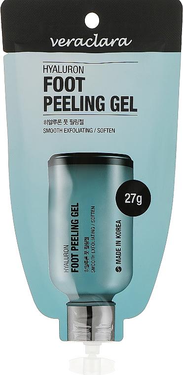 Пилинг-гель для ног с гиалуроновой кислотой - Veraclara Hyaluron Foot Peeling Gel