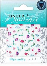 Духи, Парфюмерия, косметика Наклейки для дизайна ногтей, fda-210 - Zinger Nail Art Sticker
