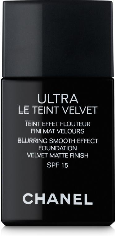 Ультралегкий стойкий тональный флюид - Chanel Ultra Le Teint Velvet SPF 15
